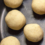 For corn tortillas, knead the masa to a smooth, texture and roll into 1.5 - 2 inch balls. #tortillas #howto mjskitchen.com