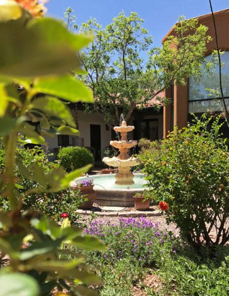 The inner courtyard of Casa San Pedro B&B in SE Arizona | mjskitchen.com