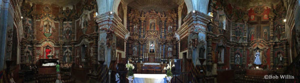 Inside the Mission San Xavier del Bac (C) Bob Willis -located south of Tucson, AZ | mjskitchen.com