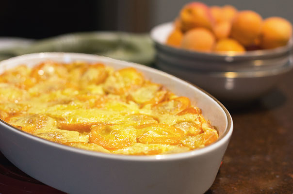 Apricot Clafoutis - A delightful custard type dish with fresh apricots and a touch of sweetness. | mjskitchen.com