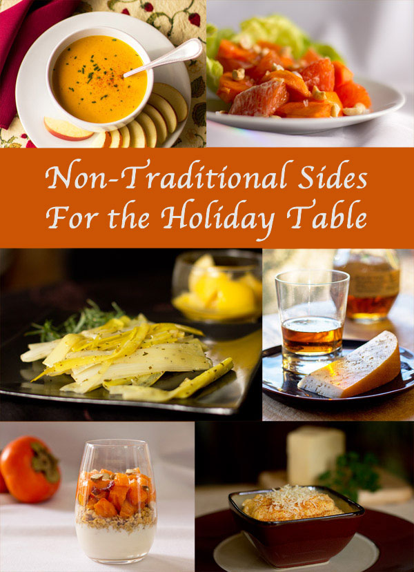 Non-traditional sides, starters and desserts for your holiday table from MJ's Kitchen. @mjskitchen